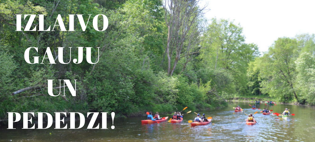 Go on Canoeing adventures on the rivers Pededze and Gauja